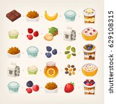 combinations of food products... | Shutterstock .eps vector #629108315