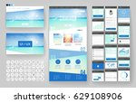 website template  one page... | Shutterstock .eps vector #629108906