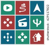 next icons set. set of 9 next... | Shutterstock .eps vector #629117822