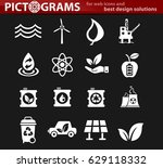alternative energy vector icons ... | Shutterstock .eps vector #629118332