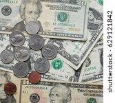 american dollar money... | Shutterstock . vector #629121842