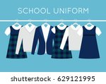school or college uniforms on... | Shutterstock .eps vector #629121995