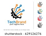 technology logo template design ... | Shutterstock .eps vector #629126276
