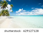 view on perfect tropical pk9... | Shutterstock . vector #629127128