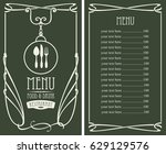 template vector menu for... | Shutterstock .eps vector #629129576