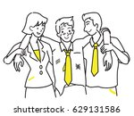 office workers  man and woman ... | Shutterstock .eps vector #629131586