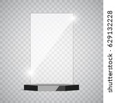 empty glass trophy award on... | Shutterstock .eps vector #629132228