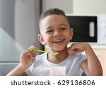 cute african american boy... | Shutterstock . vector #629136806