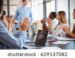 business team applauding... | Shutterstock . vector #629137082