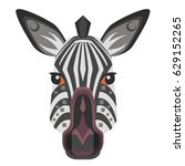 zebra head logo. vector... | Shutterstock .eps vector #629152265