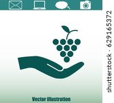 grapes icon | Shutterstock .eps vector #629165372