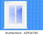 plastic glass window. vector...   Shutterstock .eps vector #62916760