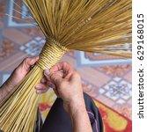 close up woman hands making... | Shutterstock . vector #629168015