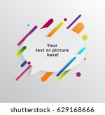 vector background with paper... | Shutterstock .eps vector #629168666