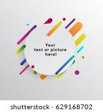 vector background with paper... | Shutterstock .eps vector #629168702