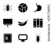 painting icons set. set of 9... | Shutterstock .eps vector #629176892