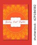 mandala vintage template card... | Shutterstock .eps vector #629186582