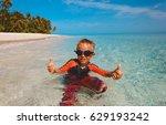 little boy having fun on... | Shutterstock . vector #629193242