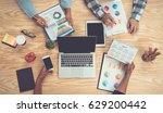 brainstorming group of people...   Shutterstock . vector #629200442