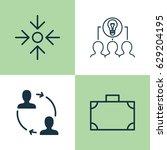 business management icons set.... | Shutterstock .eps vector #629204195