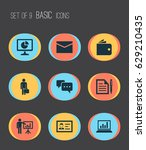 job icons set. collection of... | Shutterstock .eps vector #629210435