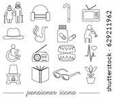 pensioner senior citizen theme... | Shutterstock .eps vector #629211962