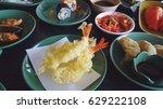 tempura shrimp japan food   Shutterstock . vector #629222108