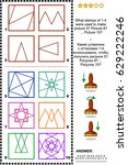 iq training abstract visual... | Shutterstock .eps vector #629222246