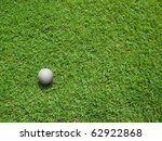 top view of white golf ball on... | Shutterstock . vector #62922868