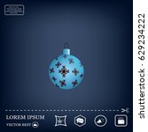 blue christmas ball with... | Shutterstock .eps vector #629234222