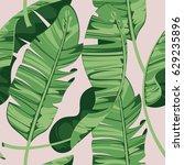 tropical print summer exotic... | Shutterstock .eps vector #629235896