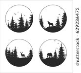 hand drawn isolated set of... | Shutterstock .eps vector #629236472