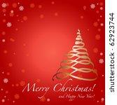 christmas card | Shutterstock .eps vector #62923744
