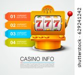 golden info list slot machine... | Shutterstock .eps vector #629241242