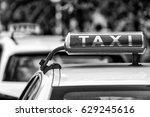 Taxi Sign In Berlin  Germany.