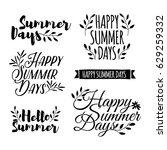 logotype set. badge  ribbon ... | Shutterstock .eps vector #629259332