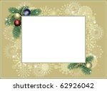 background frame with snowflakes