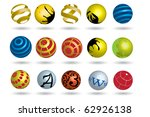 colorful abstract icon | Shutterstock .eps vector #62926138
