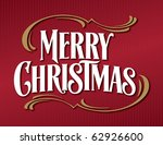 red victorian merry christmas... | Shutterstock .eps vector #62926600