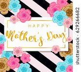 happy mother's day banner with... | Shutterstock .eps vector #629266682