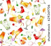 Summer Cocktails.watercolor...