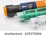 insulin injection needle or pen ... | Shutterstock . vector #629270006