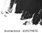 black brush strokes oil paints... | Shutterstock . vector #629279876