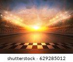 track arena 3d rendering  | Shutterstock . vector #629285012