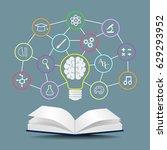 vector knowledge concept   ... | Shutterstock .eps vector #629293952