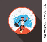 businessman breaking through...   Shutterstock .eps vector #629297366