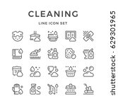 set line icons of cleaning | Shutterstock .eps vector #629301965
