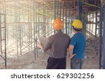 construction concepts  engineer ... | Shutterstock . vector #629302256