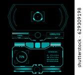 futuristic hud control monitor...