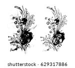 black and white monochrome... | Shutterstock . vector #629317886